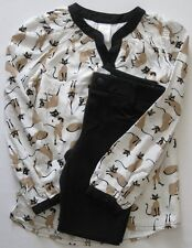 Gymboree Purrfectly Fabulous Outfit 8 New Cat Top Shirt Black Ponte Pants Girls