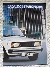 LADA 2104 1.3 & 1.5 ESTATE STATIONCAR c1988 Dutch Mkt Sales Brochure Prospekt