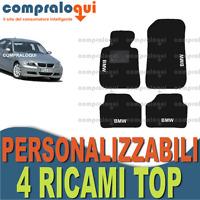 TAPPETI PER BMW SERIE 3 E90 TAPPETINI AUTO SU MISURA + 4 DECORI TOP RICAMATI