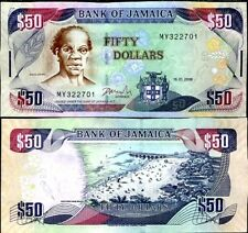 JAMAICA Jamaique Billet 50 Dollars 2008 P83 NEUF UNC