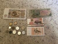 Foreign Currency Lot - Paper & Coin