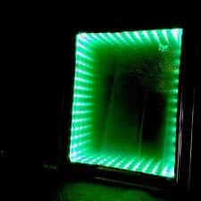 Led rgb autism Comfort Toy, 3D Illuminated Infinity Illusion Mirror, Wood Effect