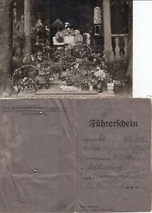 Foto und Führerschein aus Dramburg Pommern von 1930, siehe alle Scans
