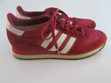 Vintage 1981 Adidas Boston Running Shoes Size 8.5 with Original Red Laces