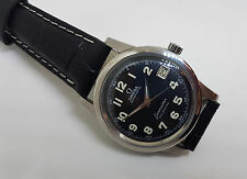 USED VINTAGE 60'S OMEGA SEAMASTER BLACK DIAL CAL:503 DATE  AUTO MAN'S WATCH