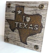 Texas Metal 12 Gauge Shell Wood Wall New Decor 8 12/x8 1/2 Rustic Distressed