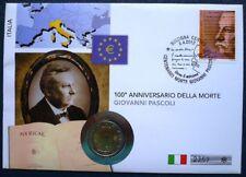 Italia 2012 NUMISBRIEF 100. centenario della morte Giovanni PASCOLI 2 euro 2012