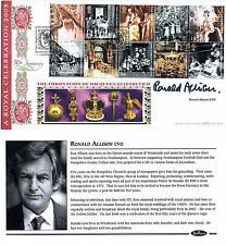 2 JUNE 2003 CORONATION BENHAM FIRST DAY COVER SHS HAND SIGNED RONALD ALLISON