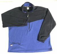 REI Fleece Pullover Mens Size XL Blue Black 1/2 Zip Made In USA  REI Co-op EUC