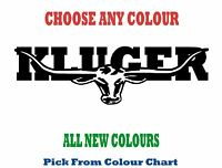 TOYOTA KLUGER 1200mm LONGHORN DECAL *CHOICE OF COLOURS*  RM Williams STICKER
