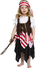 Girls Toddler Pirate Buccaneer Costume Sailor Fancy Dress Kids Outfit Age 2-3