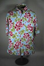 Sun Fusion Men's Hawaiian Shirt Size Large Mens Short Sleeve Button Front Floral