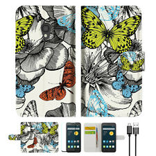 Butterfly Garden Wallet Case Cover For Telstra Optus Alcatel Pixi 3 4.5 --A018