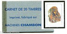 vignette expérimentale BP1a carnet de 20 pour essai machine Chambon 1962 c:260€
