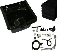 Shampoo Bowl Abs Plastic Sink Salon Spa Beauty Barber Equipment Fixture Included