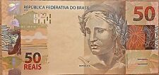 C) BRASIL BANK NOTE 50 REAIS UNC ND 2010 REPLACEMENT