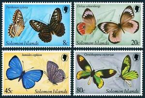 SOLOMON IS. 1980 TROPICAL BUTTERFLIES MNH INSECTS