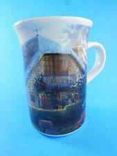 Thomas Kinkade Lilac Cottage Coffee Mug tea cup Light up windows when warm
