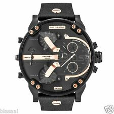 Diesel Original DZ7350 Mr Daddy 2.0 Black Leather Strap Chronograph Watch 51mm