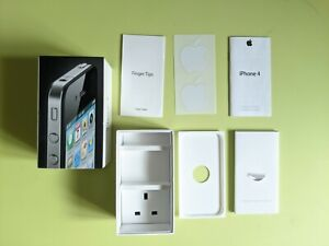 APPLE IPHONE 4 BLACK 16GB BOX & PACKAGING INSERTS ONLY