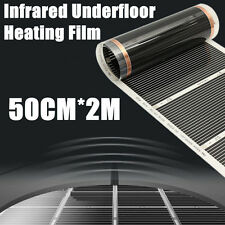 50cmx2m Electric Home Floor Infrared Underfloor 220V Heating Warm Film Mat 60°C