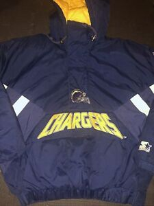 SAN DIEGO CHARGERS. VTG. STARTER. PUFFER. JACKET. SIZE. M