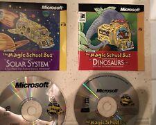 Lot of 3 Magic School Bus PC CD-ROMS Human Body Solar System Dinosaurs Vintage
