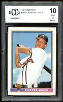 1991 Bowman #569 Chipper Jones Rookie Card BGS BCCG 10 Mint+