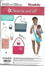 """Simplicity Sewing Pattern 8400 American Girl 18"""" Bags Girl & Doll Pattern NEW"""