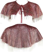 Authentic KERRY GRIMA Outstanding Metallic Pink Leather Chain Detail Cape BNWT