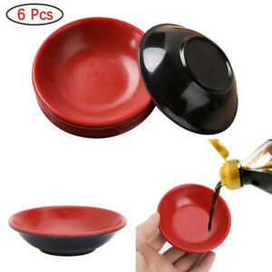 6Pcs Melamine Dipping Bowls Sauce Dishes Unbreakable Small Dishes for Hot Pot