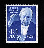 GERMANY SCOTT #9N111 ANNIVERSARY DEATH OF RICHARD STRAUSS 40PF 1955 MNH-OG