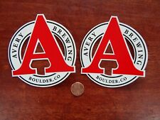 New listing Avery Brewing Craft Micro Brewery Beer Sticker Decal Colorado -Two