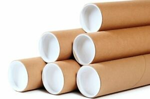 Premium Kraft Mailing Shipping Tubes 1.5-Inch by 12-Inch 5-PACK