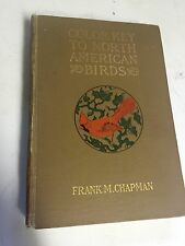 "1912 Bird Book "" Color Key To N.American Birds Color Illus & Drawings"