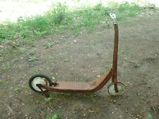 Vintage Metal Push Scooter Possibly Radio Flyer for Refinishing or Display #2