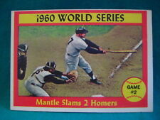1961 Topps #307-1960 World Series Game #2-Mantle Slams 2 Homers-No Creases