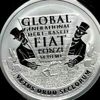 2019 Silver Shield GLOBAL PONZI 1 oz. Silver PROOF w/ COA & BOX! SHIPPING NOW!