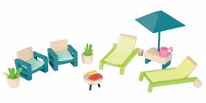 Playtive Junior Puppenhaus Möbel Puppenstube - Gartenmöbel Garten
