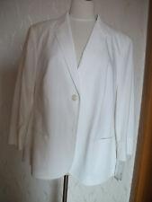 Orig. BASLER - eleganter weißer Blazer streckend mit 3/4 Arm Gr. 46 NEU