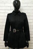 Cappotto BENETTON Taglia M Giubbino Giubbotto Giacca Jacket Woman Nero Cotone