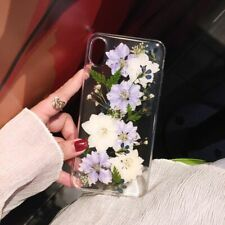Real Pressed Dried Flowers TPU iPhone Case X XS Max XR 6 6s 7 8 Plus 11 Pro Max