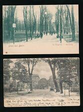 Germany BERLIN Gruss Aus Tiergarten x 2 c1902 u/b PPCs One late use 1930