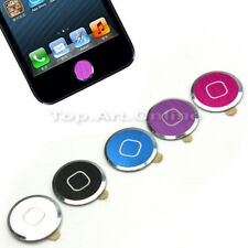 5 Pcs Metal Aluminum Keypad Home Button Sticker For iPhone 5 4S 4 3GS 3G iPod