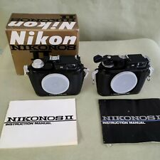 nikonos ii  underwater set.  2 camera bodies, 35mm, 28m, and 15mm lenses, more