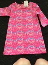 NWT Vineyard Vines Girls Watercolor Whale Tail Tunic Dress Pink Sherbet Size 3T