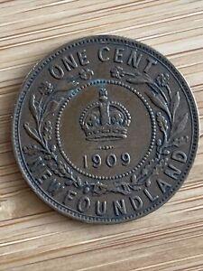 1909 new foundland large Cent. Edward VII