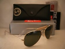 Ray Ban 3029 Outdoorsman II Gold w Green Crystal (G-15) Lens (RB3029 L2112)