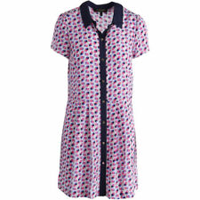NEW Womens Juicy Couture Black Label Poppy Dot Couture Pink Shirtdress AU 14
