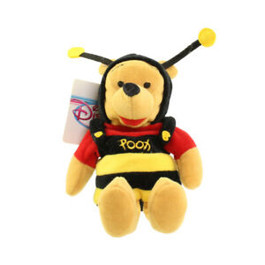 Disney Bean Bag Plush - BUMBLE BEE POOH (Winnie the Pooh) (9 inch) - Mint w/Tag